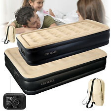 High Raised Inflatable Air Bed Mattress Builtin Electric Pump Double Queen Singl