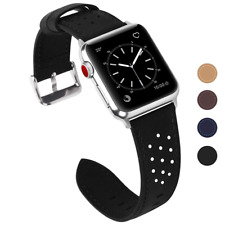 Fullmosa Apple Watch Strap 42mm and 38mm, Genuine Leather iWatch Strap/Band for
