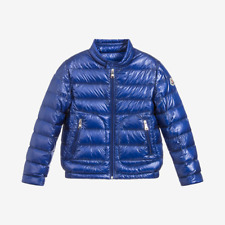 Moncler for Kids 'Acorus' Padded Down Jacket - Blue