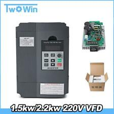 1.5KW / 2.2KW 220V  Single-phase Inverter Input VFD 3 Phase Output Frequency Con