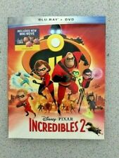 INCREDIBLES 2 Blu-ray + DVD + No Digital Code, New with SlipCover Free shipping