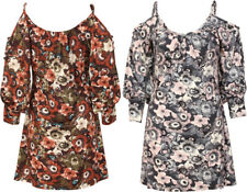 Dress Top Blouse Strappy Shirt Maxi Summer New Tee Floral Soft Ladies Womens