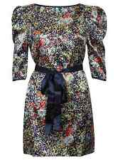 Dress Patterned Floral Maxi Ladies Evening Ball Gown New Silk Belted Fashion