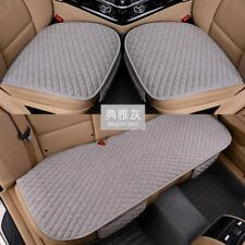 Linen Fabric Car Seat Cover Four Seasons Front Rear Flax Cushion Breathable