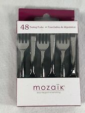 400x Mini Metallic Silver Plastic Cocktail Forks Mini Fork Party Disposable Fork