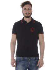 3ce1475bc4e1 Versace Jeans Polo Shirt SLIM Cotton Man Black B3GRA7P1 899 NWT