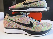 5bb7bc50e1dd Nike Flyknit Racer MULTICOLOR 1.0 OG BLACK TONGUE 2013 Rainbow 526628 004  htm mc