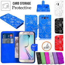 For Samsung Galaxy S7/S6 Edge,S5,S4 Diamond Bling Slots Wallet Stand Case Cover