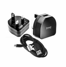 GENUINE HTC MAINS WALL CHARGER PLUG & MICRO USB CABLE FOR HTC ONE MINI M9 M8 M8S
