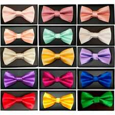 Hand Made Mens Satin Bow Tie Pre Tied Wedding Prom adjustable Dickie Bow Necktie