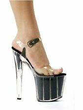 Ellie Shoes E-821-Glitter 8 Pointed Stiletto Sandal With Glitter