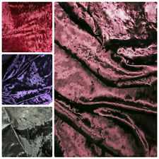 Luxurious Heavy Crushed Velvet Fabric Craft Stretch Velour Material