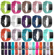 Strap Wristband Bracelet Replacement Silicone Band Rubber For Fitbit Charger 2