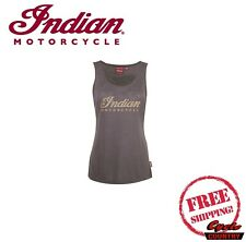 GENUINE INDIAN MOTORCYCLE BRAND OPEN BACK TANK TOP WOMENS LADIES GRAY NEW
