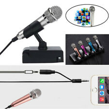 Mini Karaoke Condenser Wired 3.5mm Stereo Microphone Mic For Smart Phone