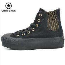0add45a6559944 Converse Womens CT All Star Hi Platform Chelsea Trainers Black - 545047C-001