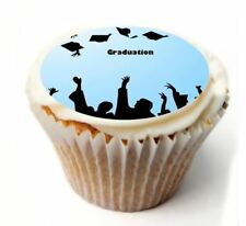 Graduation Birthday Cupcake Toppers x20 Rice Paper or Icing, Personal. 927