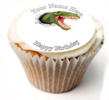 T Rex Birthday Cupcake Toppers; x20 Rice Paper or Icing, Personalised. 28