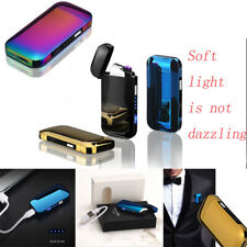 Dual Arc Electric USB Lighter Rechargeable Windproof Flameless Torch Cigarette