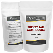 TURKEY TAIL MUSHROOM - 10:1 Extract Powder - Strength & Quality - Choose Size