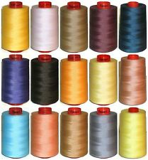 BEIGE col 758 SEWING THREAD 120s SPUN POLYESTER OVERLOCKING 5000yrd X 4 CONES