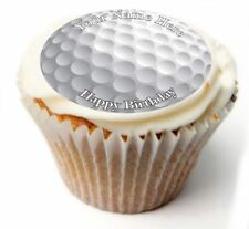 Golf Birthday Cupcake Toppers; x20 Rice Paper or Icing, Personalised. 24
