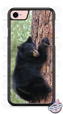 Black Grizzly Bear Climbing Tree Design Phone Case for iPhone Samsung LG etc