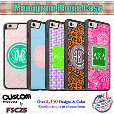 Custom Monogram Designs Personalized phone case for iPhone Samsung Google LG etc