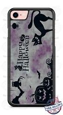 Happy Halloween Black Cat Design Phone Case for iPhone Samsung Google LG HTC etc