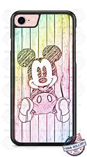 Disney Colorful Mickey Mouse Sketch Phone Case for iPhone X 8 PLUS Samsung etc