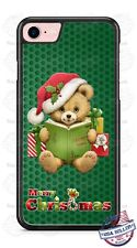 Merry Christmas Teddy Bear Reading Xmas Phone Case Cover for iPhone Xs Max etc