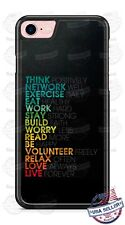 Positive Motivational Quotes Phone Case fits iPhone Samsung LG Google HTC etc