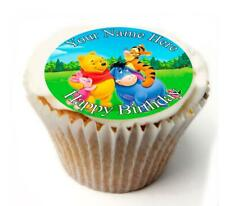 Winnie Pooh Birthday Cupcake Toppers; x20 Rice Paper or Icing, Personalised. 59