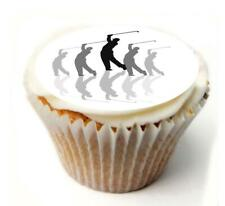 Golfer Golf Birthday Cupcake Toppers x20 Rice Paper or Icing, Personal. 936