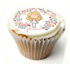 Princess Birthday Cupcake Toppers x20 Rice Paper or Icing, Personal. 959