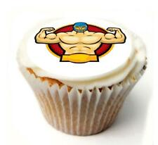 Wrestling Birthday Cupcake Toppers x20 Rice Paper or Icing, Personal. 932