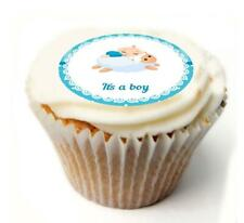 New Baby Boy Cupcake Toppers x20 Rice Paper or Icing, Personal.1036