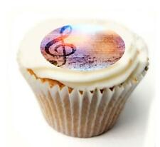 Music Notes Birthday Cupcake Toppers x20 Rice Paper or Icing, Personal.1051