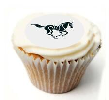 Horse Birthday Cupcake Toppers x20 Rice Paper or Icing, Personal.1049