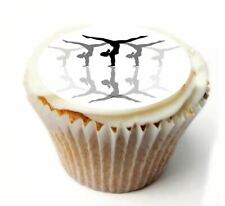 Gymnastics Birthday Cupcake Toppers x20 Rice Paper or Icing, Personal. 935
