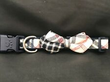 Flannel Red,White, and Blue plaid collar with bow tie