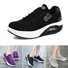 Women's Shoes Breathable Casual Lace Up Running Mesh Fashion Unisex Platform