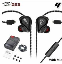 KZ ZS3 HiFi In-Ear Earphones With Mic (Black)