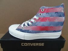 6cc7089d8760 Converse Women s Chuck Taylor All Star Lux Mid Trainers Red White Blue