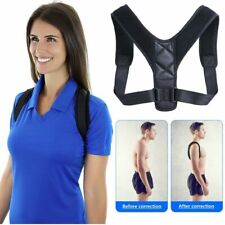 Back Brace Support Belt Adjustable Posture Corrector Clavicle Spine Shoulder