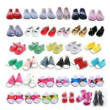 For 18 inch American Doll Doll Shoes Clothes Cavans Sneakers Dress Doll Clothing