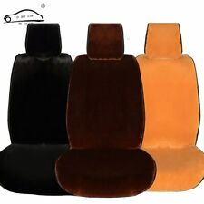 Deluxe Plain Winter Short Plush Cushion Car Seat Cover