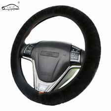 Winter Warm Fluffy Thicken Short Plush Car Steering Wheel Cover Universal Size