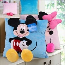 Disney 1pcs 35cm 3D Mickey Mouse and Minnie Mouse Plush Pillow Kawaii Mickey and
