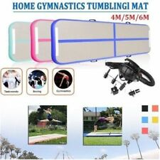 19/16/13ft Gymnastikmatte Air Track Home Floor Aufblasbar Tumbling Mat +Pumpe